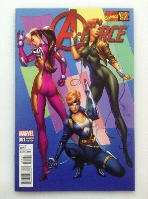 A-Force#1•color•1:25•variant Edition• Campbell•marvel Comics'92•girl Groupshot
