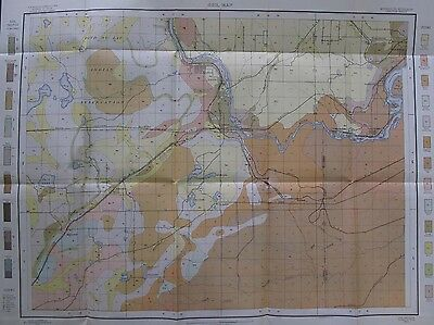 Color Soil Survey Map Carlton Minnesota Wisconsin Cloquet West New Duluth 1905