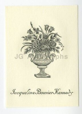 Jacqueline Kennedy - Original Tiffany Engraved Personally Owned Bookplate