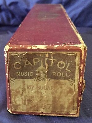 RP2714 Vtg Capitol Word Roll Player Piano Music Roll 1187 My Sugar