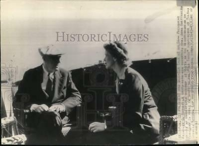 1945 Press Photo President Roosevelt & daughter, Anna Boettiger in Malta