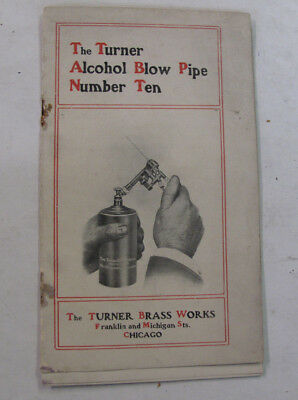 Turner Brass Works Chicago Trade Catalog Illus Alcohol Blow Pipe Torch Blowtorch