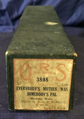 RP2722 Vtg QRS Player Piano Music Roll 3808 Everybody's Mother Was Somebodys Pal