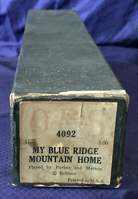 RP2726 Vtg QRS Word Player Piano Music Roll 4092 My Blue Ridge Mountain Home