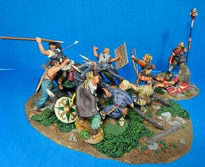 conte collectibles 54MM Rome series mini scene 8 figs1mtd 2003 SPQR016+ used oop