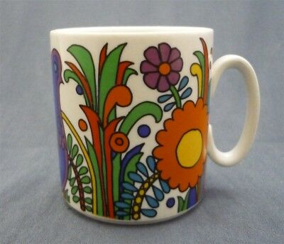 "Villeroy & Boch Luxembourg ACAPULCO Pattern Coffee Mug 3 1/4"" Tall"