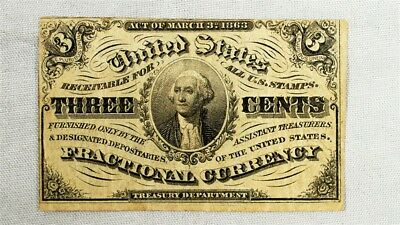FR.1226 US 3rd Issue (1864-69) 3 Cent Fractional Note