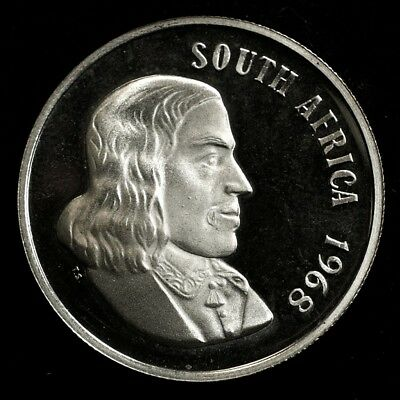 1968 South Africa 1 Rand Proof - .800 Silver - KM# 71.1 - Low Mintage