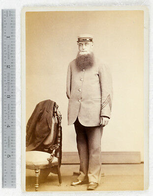 Antique Civil War Veteran Amputee Cabinet Card Photo Winsted Connecticut