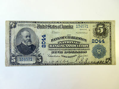 SC. Bank of Charleston National Banking Assoc. 1902 PB $5 CH#2044 F/VF
