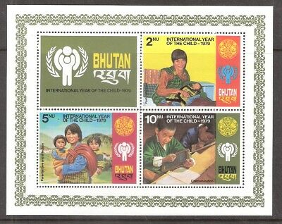 Bhutan 1979 Year of the Child Souvenir Sheet MNH *SC# 291a)