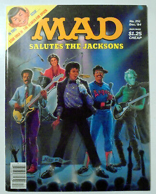 MAD Magazine #251 The Jacksons Cover 1984 EX