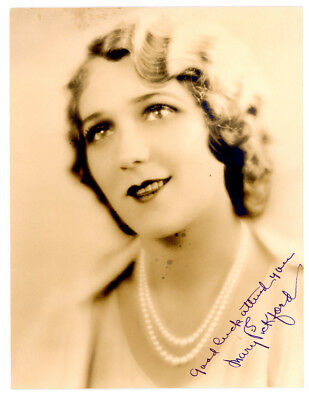 MARY PICKFORD VINTAGE ORIGINAL 1920s SIGNED DBLWT PHOTO AUTOGRAPH HER COLLECTION