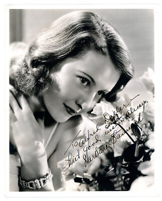 BARBARA STANWYCK VINTAGE ORIGINAL 1940s SIGNED DBLWT GORGEOUS PHOTO AUTOGRAPHED
