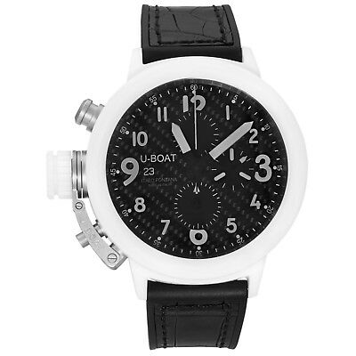 U-Boat Flightdeck Chronograph Full Ceramic Automatic Men's Watch 7095 Swiss