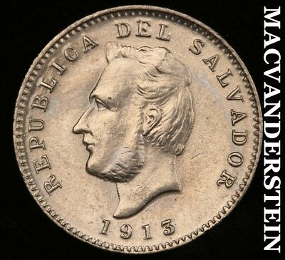 El Salvador: 1913-H Three Centavos- Gem Brilliant Uncirculated !! #h5381