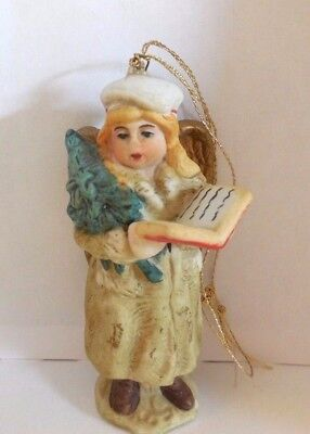 Vintage Antique Victorian German Porcelain Bisque  Snow Angel Ornament Doll