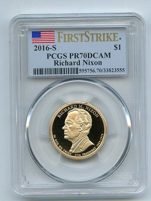 2016 S $1 Richard Nixon Dollar PCGS PR70DCAM First Strike