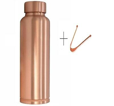 Pure Copper Bottle Water Storage Vessel Ayurveda Hammered India 100% Copper