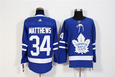 Men's Toronto Maple Leafs 34 Auston Matthews  Blue Home Hockey Jersey