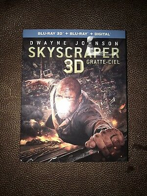 SKYSCRAPER 3D BLU-RAY & BLURAY & DIGITAL SET with Dwayne Johnson & Neve Campbell