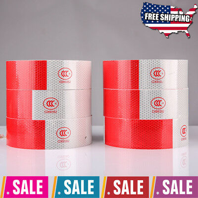 """Reflective Conspicuity Tape 2""""x150' Vehicle Safety Strip Sticker Roll Strip"""