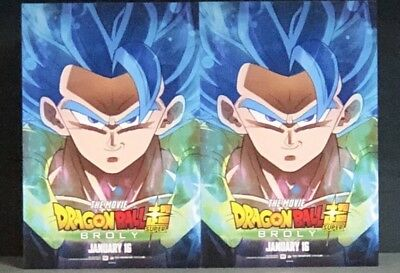 3 Postcard Mini Poster From DRAGON BALL SUPER BROLY Movie 2019 Gogeta Special