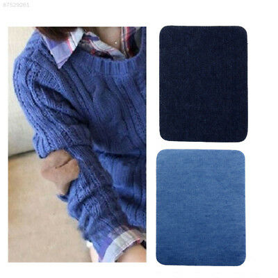36BA 2PCS Jeans Patches Repairs Knee Patch Sewing Cloth fill hole Cowboy DIY