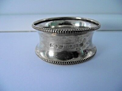 ANTIQUE 1940 STERLING SILVER HALLMARKED NAPKIN RING 6g BLANK NOT ENGRAVED