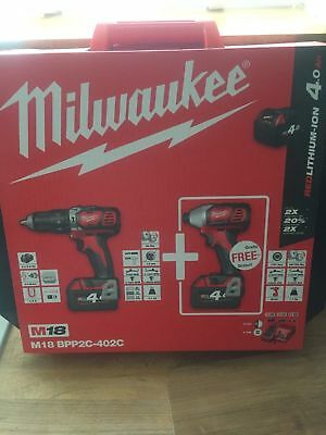 Drill and Impact Milwaukee 18v Twin Pack 90th anniversary Set
