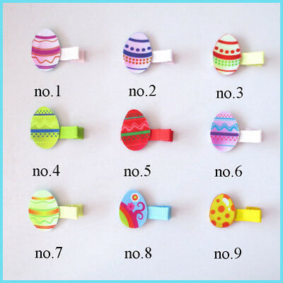 """50 BLESSING Fashion 2"""" Hair Clip Bow Easter Spring Rabbit Chicken Egg Baby"""