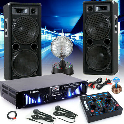 Installation Karaoké Boxe Bluetooth MP3 USB Sd Amplificateur Mixer Discothèque