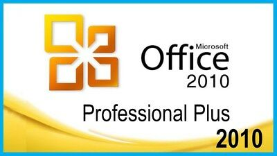 Microsoft Office 2010 for Windows 7 &10 Word/Excel/Outlook/Power etc 4 PC 32-Bit