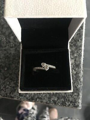 Pandora Forever Hearts Ring 191023Cz , S925 Ale,all Sizes, Sterling Silver
