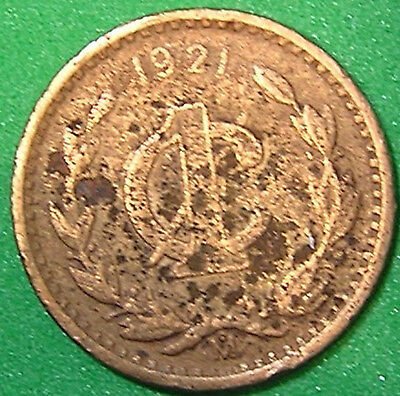 1-Coin from Mexico.  1-Centavo.  1921.