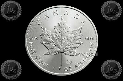CANADA $ 5 DOLLARS 2019 ( MAPLE LEAF ) 1oz SILVER coin (Ag 999/1000) UNC * NEW