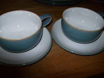 Denby Cups And Saucers - 2