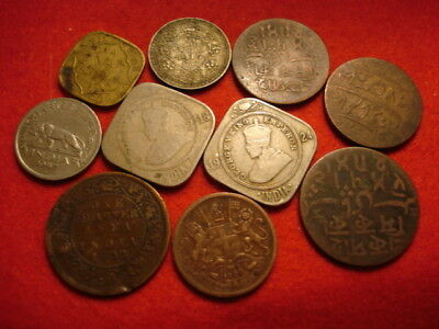 10 India Coins 1835 - 1945