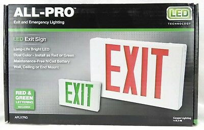 All-Pro AP Series Red/Green LED Exit Sign