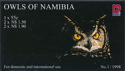 [H15410] Namibia 1998 OWLS - BIRDS - Fauna Good complete booklet fine MNH
