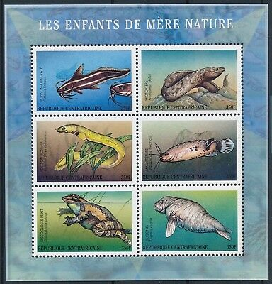 [H15811] Cent.African Rep. 2001 FROG FISHS DUDONG Good sheet very fine MNH