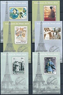 [H15977] Niger 1998 20TH CENTURY Good lot of 6 sheets very fine MNH
