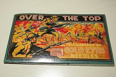 Vintage Antique OVER THE TOP Gold Eyed Sewing Needles Variety Germany