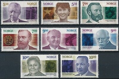 [H16545] Norway 2001 NOBEL PRIZES Good set of stamps very fine MNH