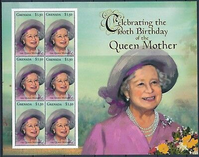 [HG25840] Grenada 2000 QUEEN MOTHER - Royalty Good sheet very fine MNH