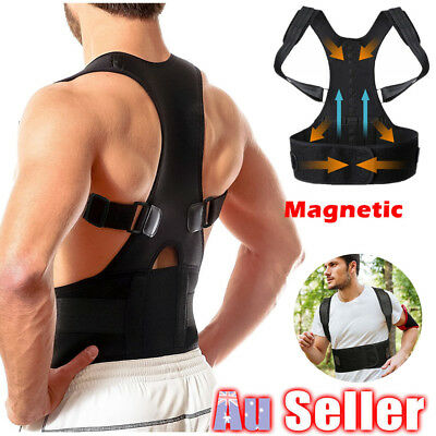 Magnetic Therapy Posture Corrector Bad Back Support Lumbar Belt Brace Men Women