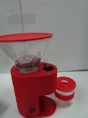 BODUM Bistro Electric Coffee Conical Burr Grinder Red (RV9)
