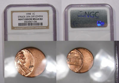 1998 Wheat Cent 35% Off Cent Ngc Ms64Rd 21 Yrs Old! Inv#345-10