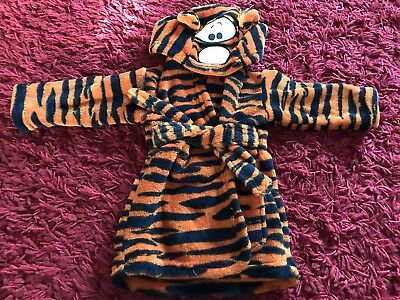 Disney Tigger Baby Boy Girl Robe Dressing Gown With Hood Age 0-6 Months
