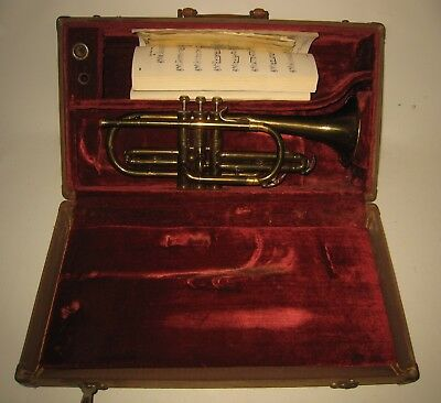 Vintage Pan American Trumpet #191304 with Case Elkhart Ind